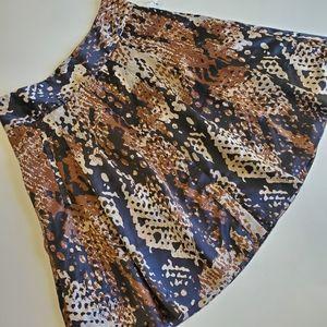 Worthington animal printed skirt size 8